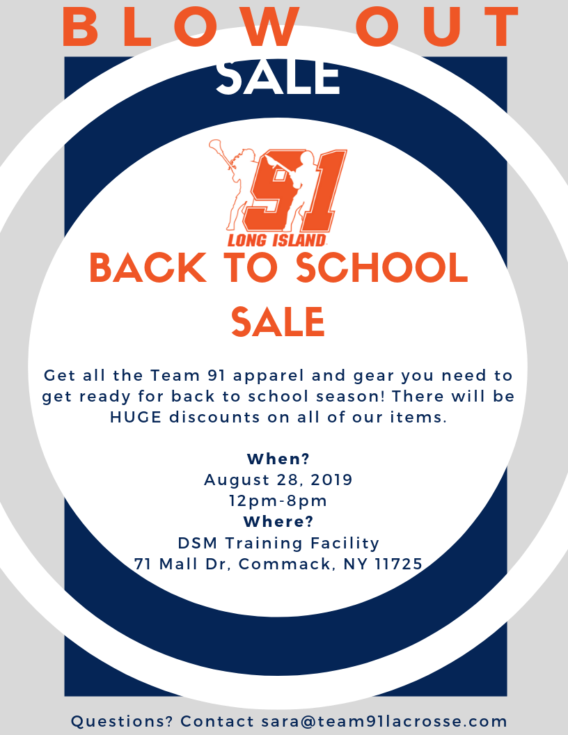 Team 91 Blow out sale