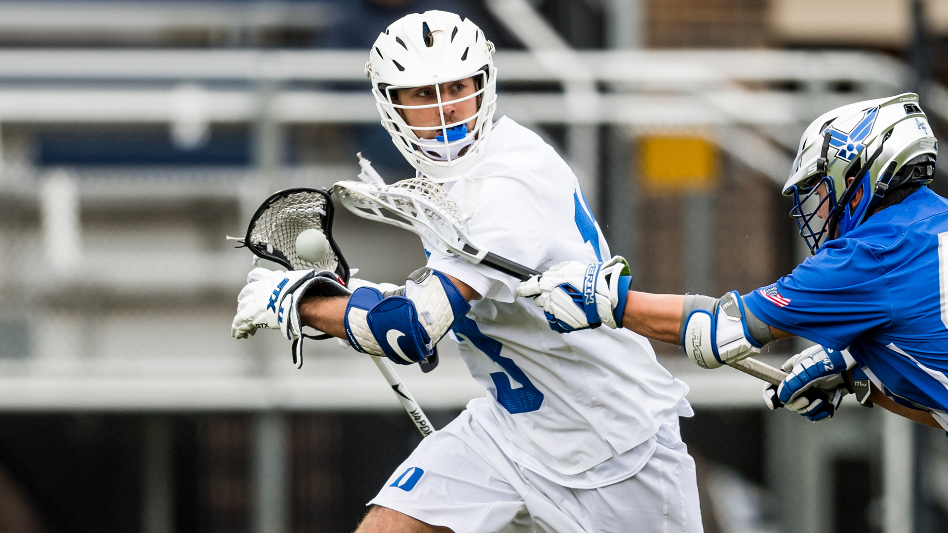 Duke Men's Lacrosse takes on Air Force in the season opener at Koskinen Stadium in Durham, NC - February 1, 2020
