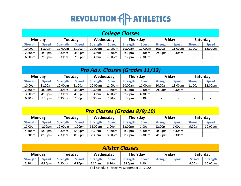 Revo Schedule